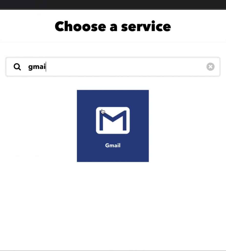 This is where you can search for the 'Gmail' channel to configure which email and how you'd like to receive your match notifications