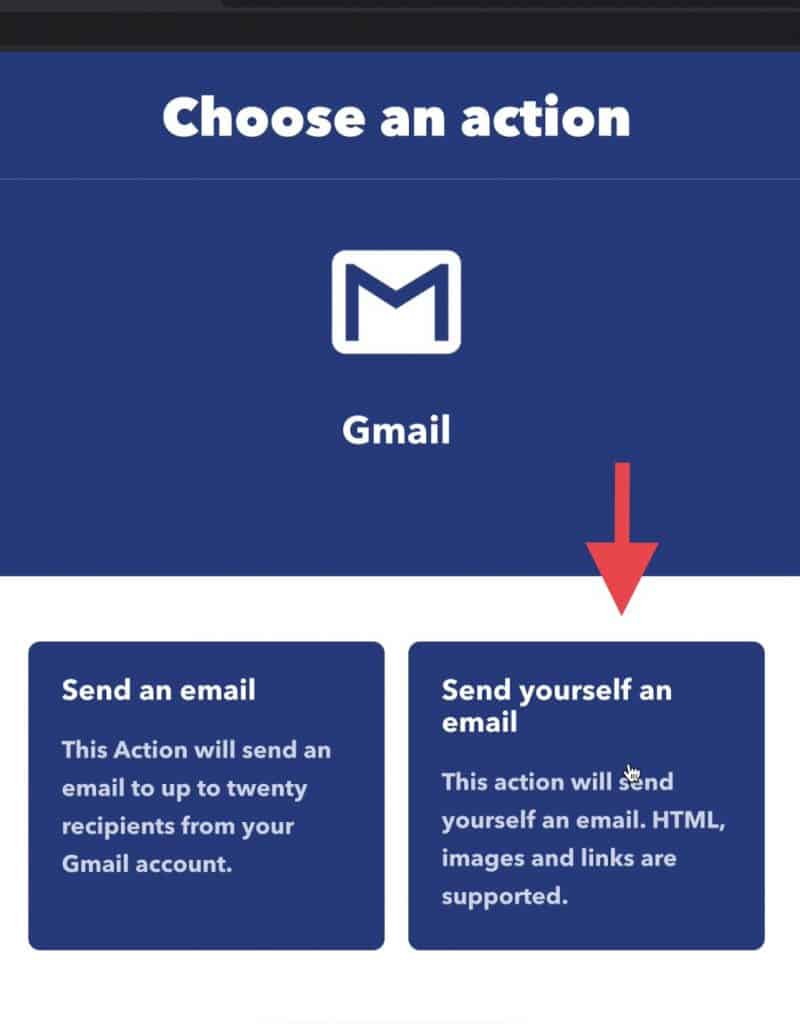 Once the Gmail account is connected to IFTTT, you can then choose where to send your match notifications