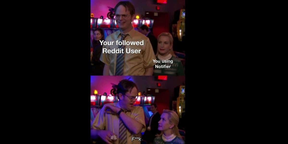Following a Reddit User by Using Notifier